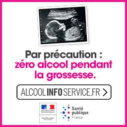 Par précaution : zéro alcool pendant la grossesse.