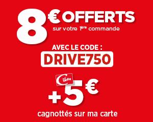 8€ offerts sur votre 1ère commande au drive !