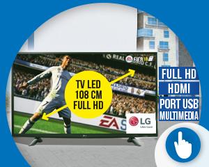 40€ de remise immédiate sur la TV LED 108 cm LG
