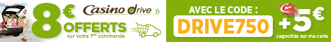 8€ offerts sur votre 1ere commande au drive !