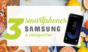 3 smartphones SAMSUNG à gagner !