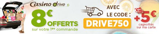 8€ offerts sur votre 1ere commande au drive