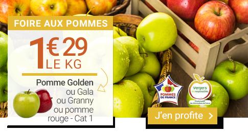 Prix minis sur les Pommes Golden, Granny, Gala ou Rouge !