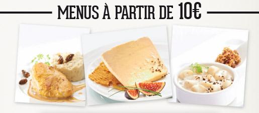 Menus à partir de 10€ !