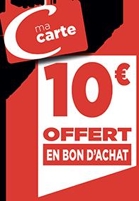 10€ EN BON D'ACHAT