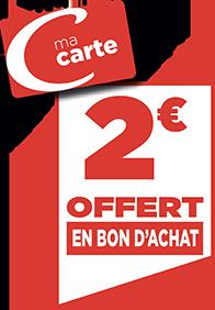 2€ EN BON D'ACHAT