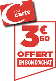 3.50€ EN BON D'ACHAT