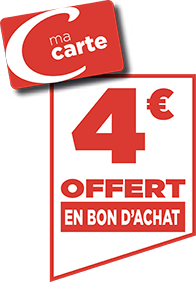 4€ EN BON D'ACHAT
