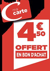 4.50€ EN BON D'ACHAT