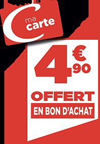 4.90€ EN BON D'ACHAT