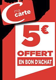 5€ EN BON D'ACHAT