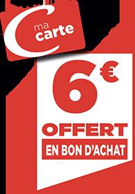 6€ EN BON D'ACHAT