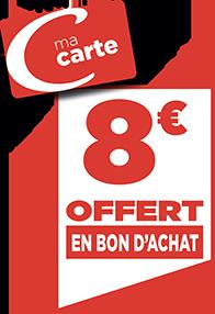 8€ EN BON D'ACHAT