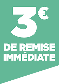 3€ DE REMISE IMMEDIATE